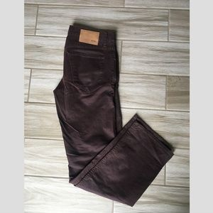 Hugo Boss Slim Straight Pants Burgundy 32